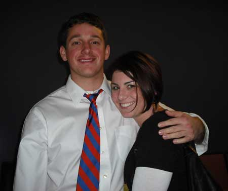 My favorite Gator fan and me. See that tie? I have been told that those are the colors of champions