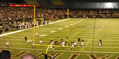 The Saints offense from our seats