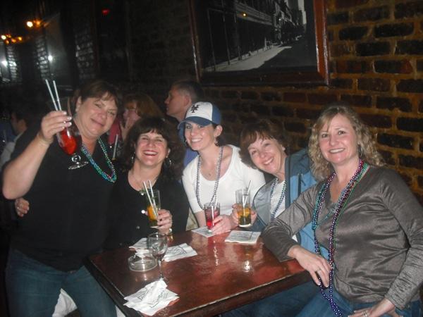 The ladies at the piano bar