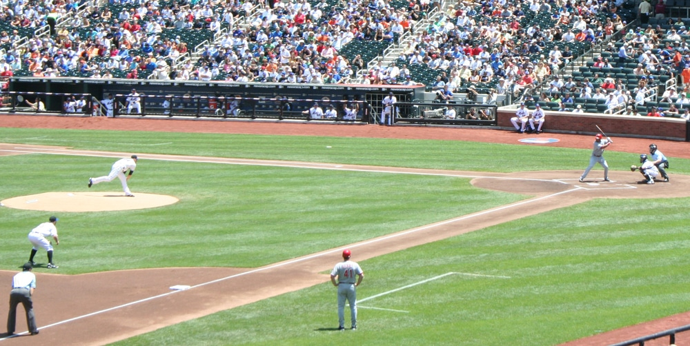 First pitch from Mike Pelfrey
