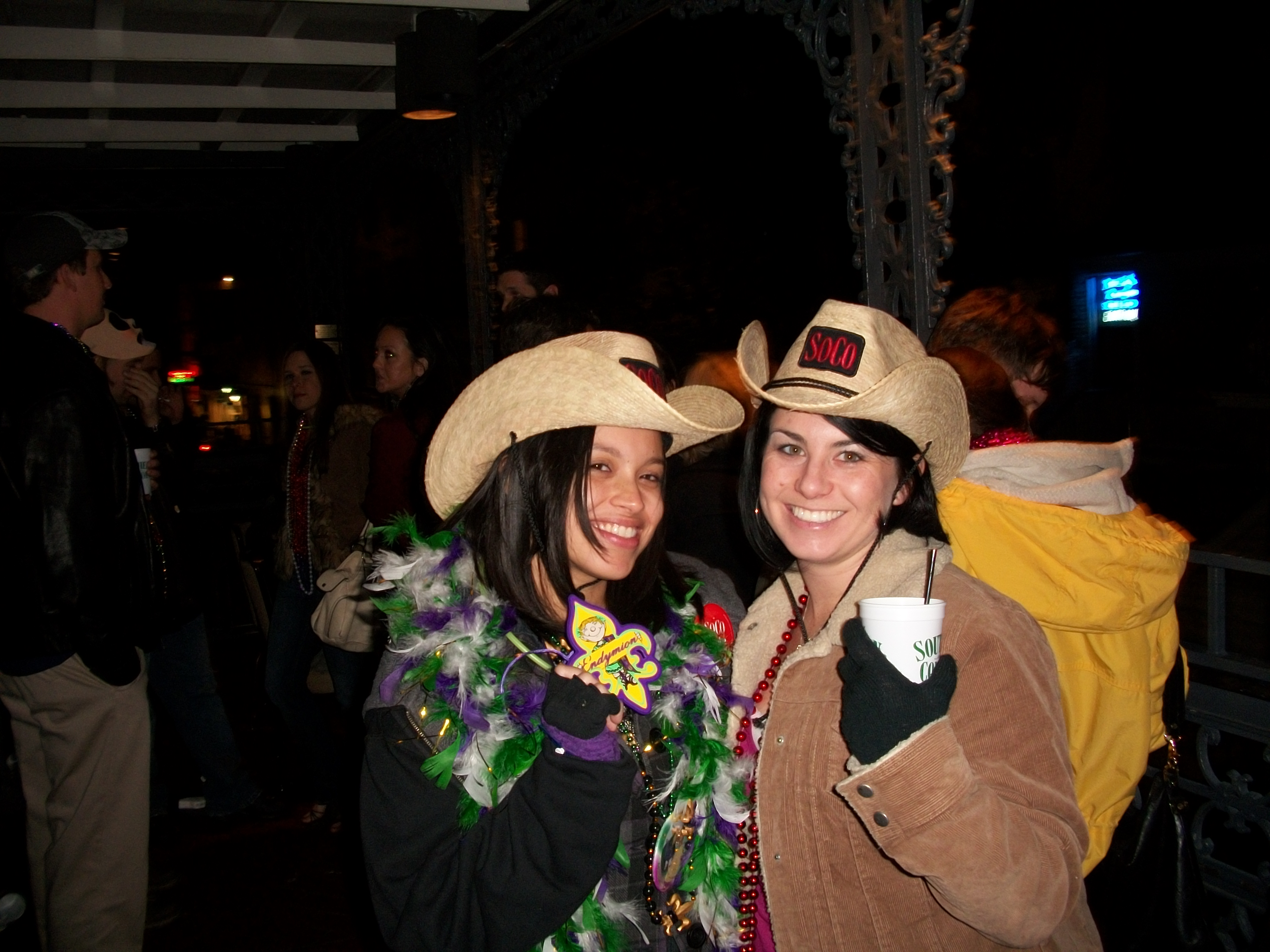 I think this girl's name was Zeta or something. During Mardi Gras a friend of a friend of a friend becomes your friend.