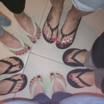 The obligatory painted toes/feet picture