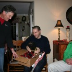 Dad handing out the gifts