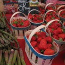 Strawberries and asparagus are definitely in season here