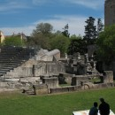 Ruins-turned-amphitheatre next to the colosseum