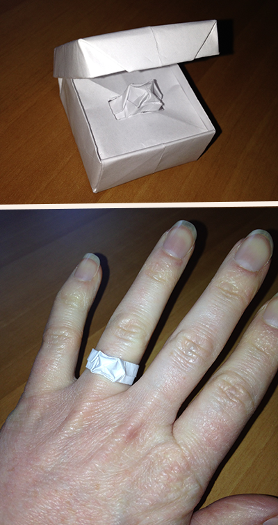 My first engagement ring