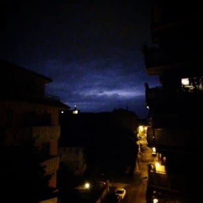 Lightning in Udine, Italy