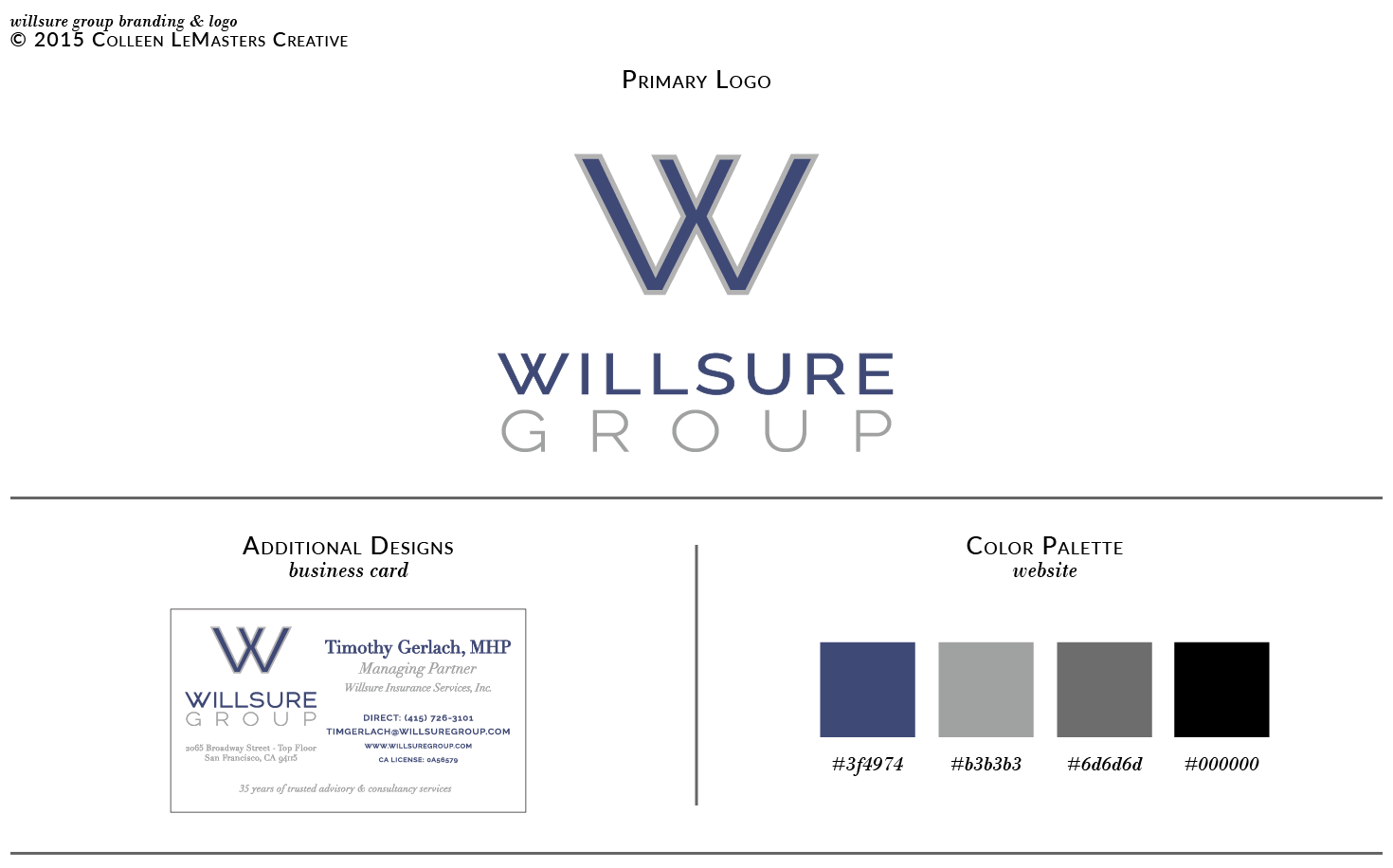 Willsure Group brand identity