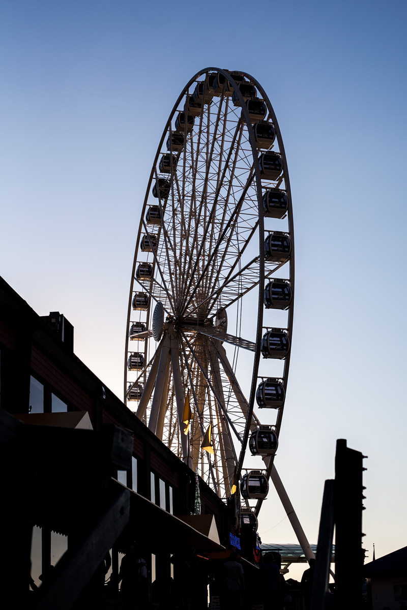 The ferris wheel at Seattle's Pier 57