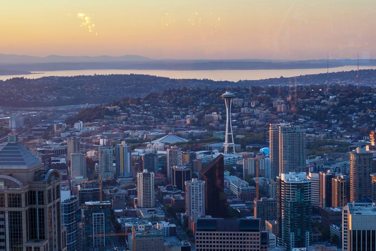 Seattle from above in the Observatory