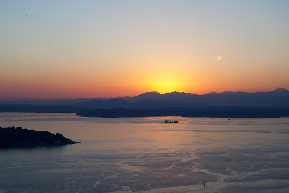 Seattle Sunset from the Observatory