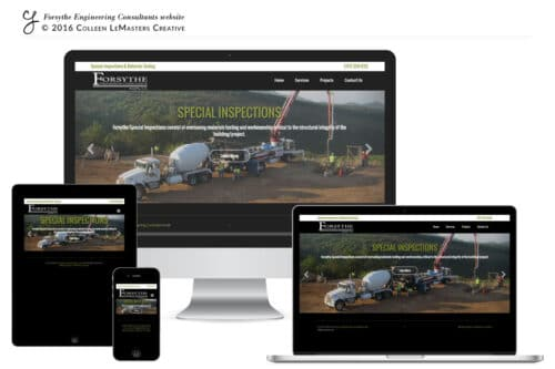 Forsythe Engineering CLCreative website