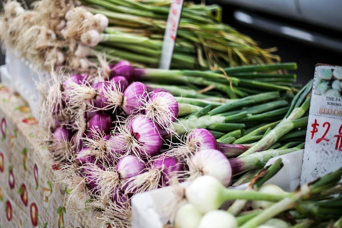 Napa Farmers Market onions