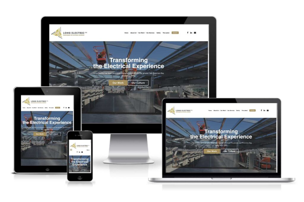 Long Electric website responsive views