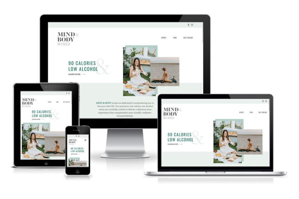 Mind & Body Wines responsive site