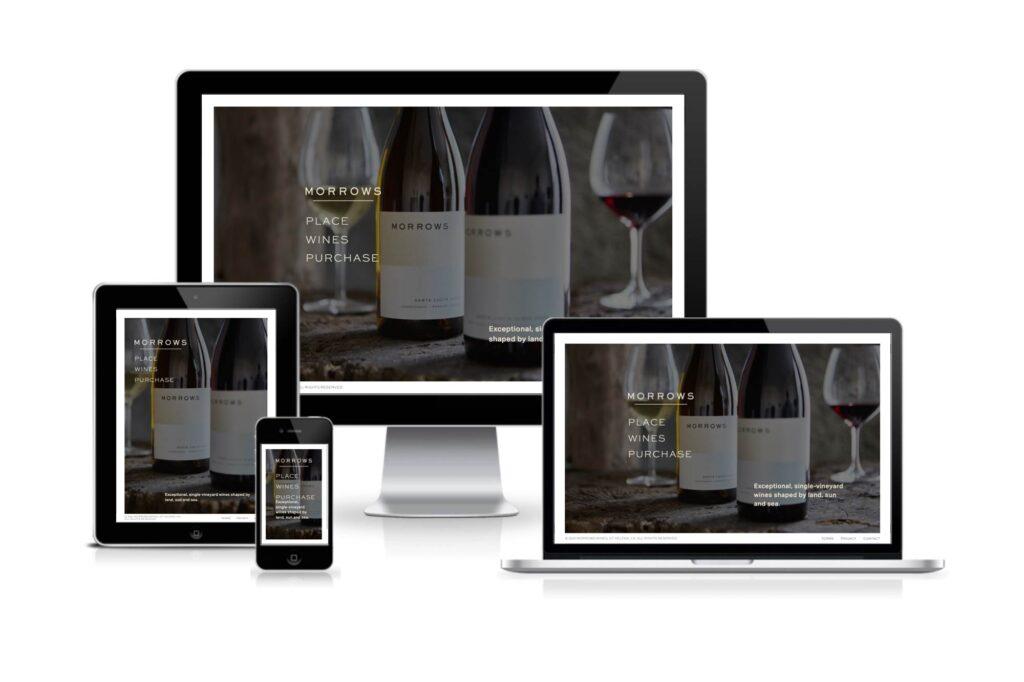 Morrows Wines responsive website design